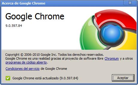 Google Chrome llega a la versión 9