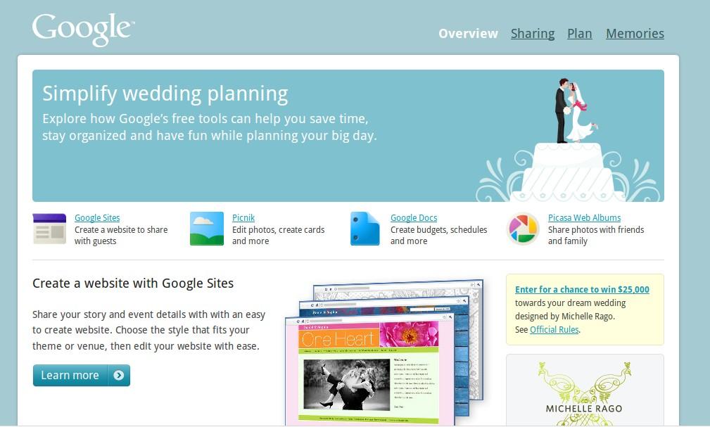 Planifica tu boda fácilmente gracias a Google