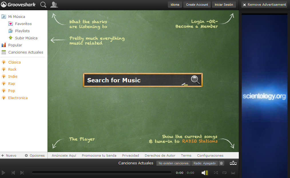 Grooveshark, alternativa web a Spotify