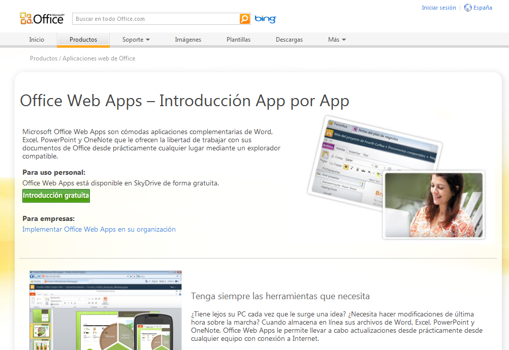 Office Web App, una alternativa a Google Docs