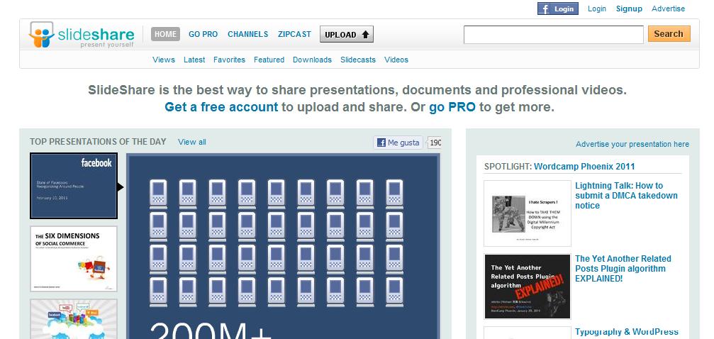 Slideshare, la mejor y más famosa manera de compartir presentaciones