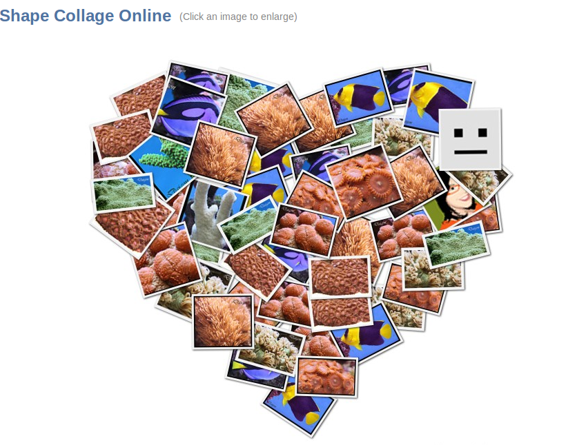 Crea mosaicos online con Shape Collage