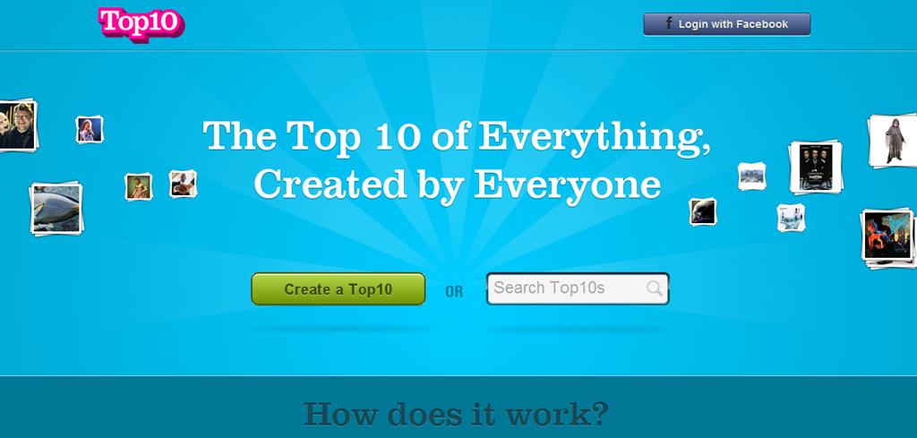 Crea y visita rankings en top10.co