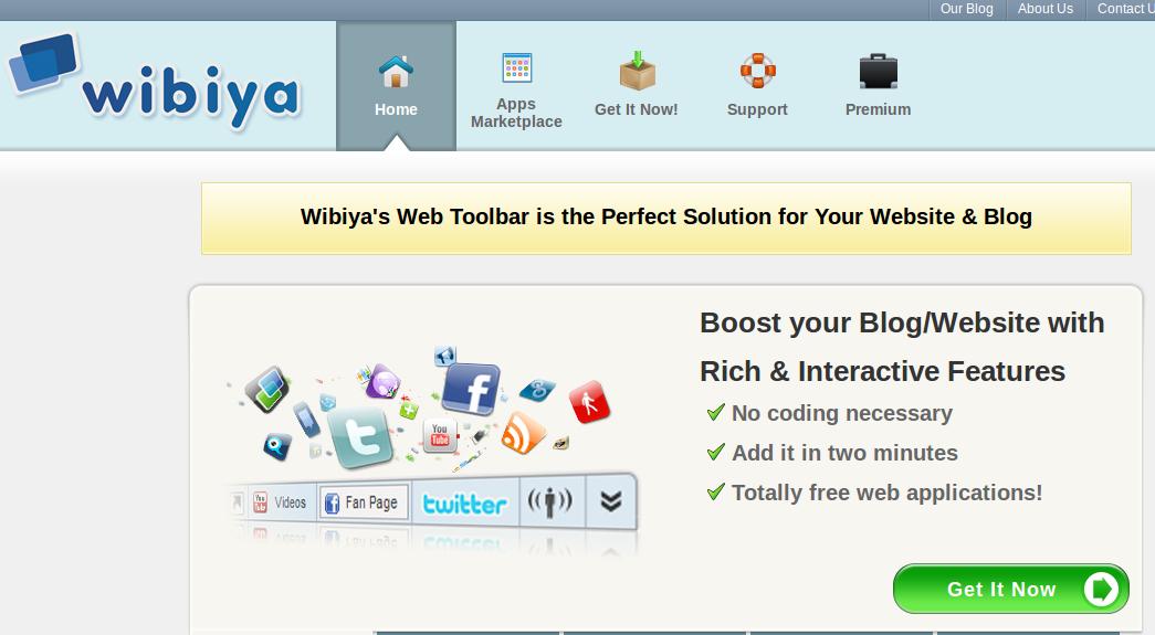 Cómo crear una barra de herramientas social con Wibiya