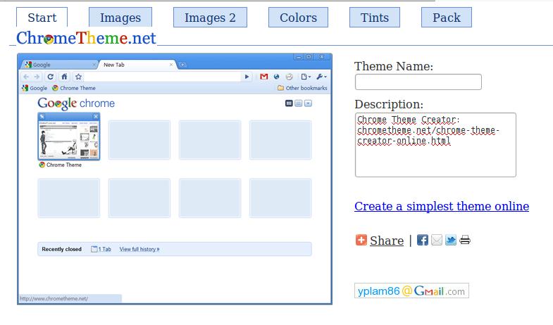 Crea online temas para Chrome