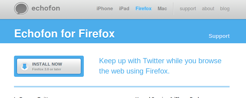 Echofon, conéctate a Twitter con este complemento para Firefox