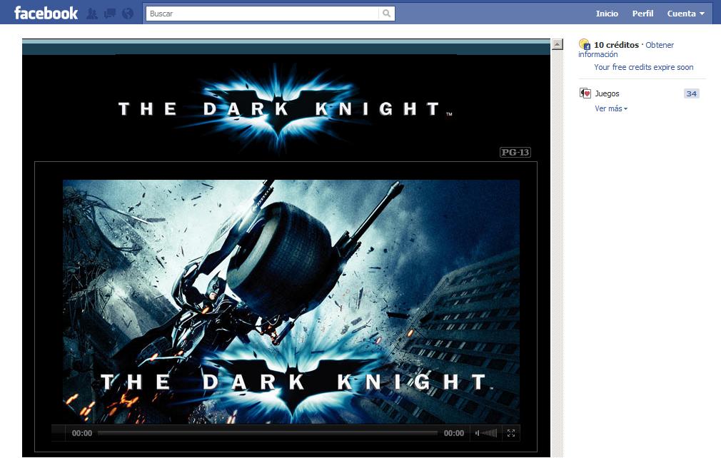 Facebook empieza a ofrecer películas en alquiler