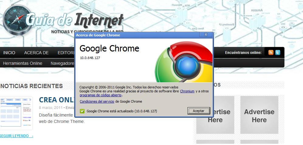 Google presenta la versión 10 de su navegador Google Chrome