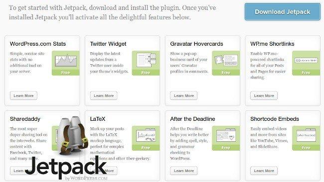 Jetpack pone funciones de WordPress.com en tu instalación de Wordpres