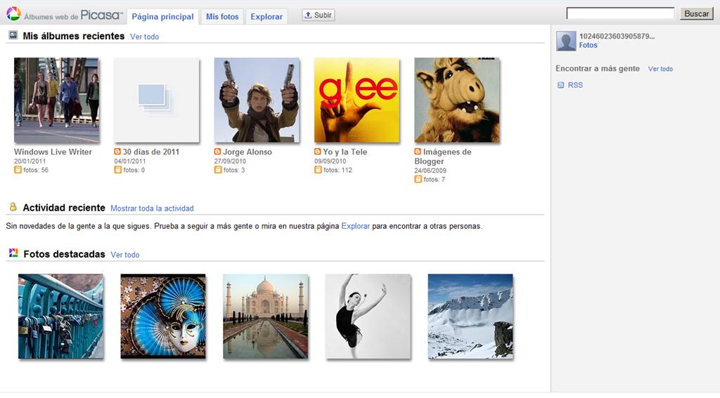 Novedades en Picasa Web