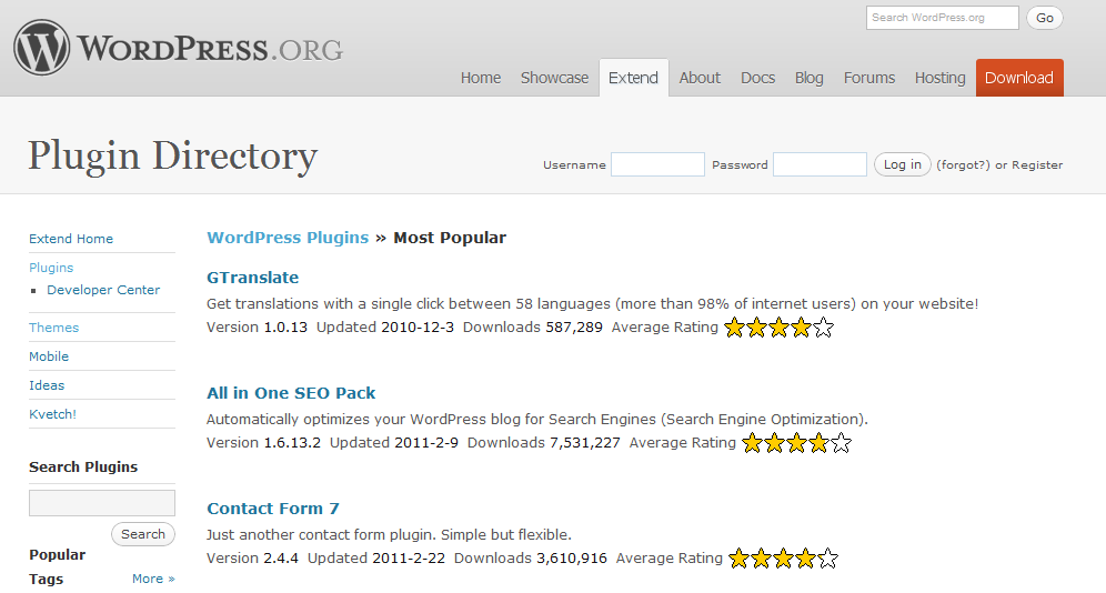 Los mejores plugins para WordPress (I)