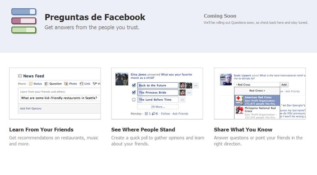 Facebook prepara un servicio de preguntas y respuestas