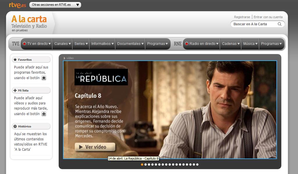 RTVE.es renueva su servicio 'a la carta'