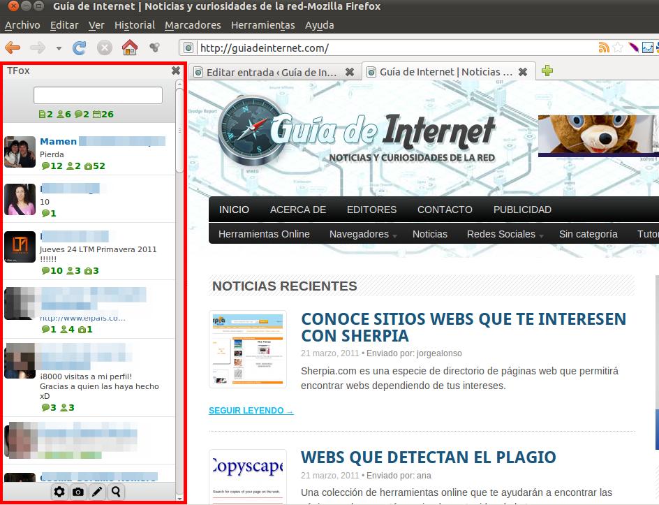 TFox, una extensión para Firefox con la que estar siempre conectado a Tuenti
