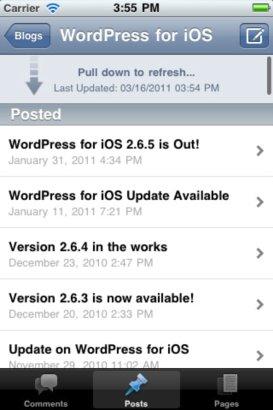 Nueva aplicación de WordPress para iOS