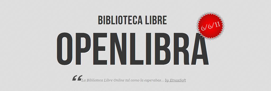 OpenLibra: biblioteca libre online en español