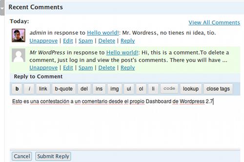 WordPress añade Facebook y Twitter en su sistema de comentarios