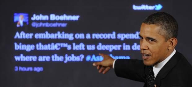 Obama conversa en Twitter