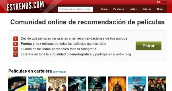 Estrenos.com, la nueva red social del cine online