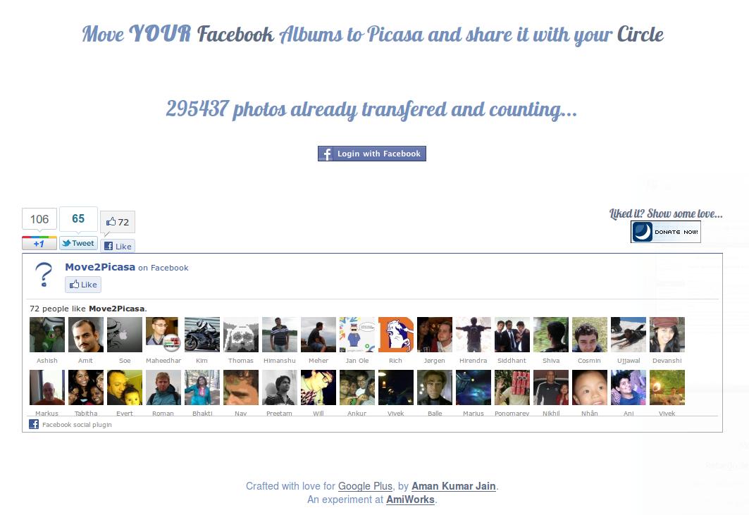 Cómo pasar las fotos de Facebook a Google+