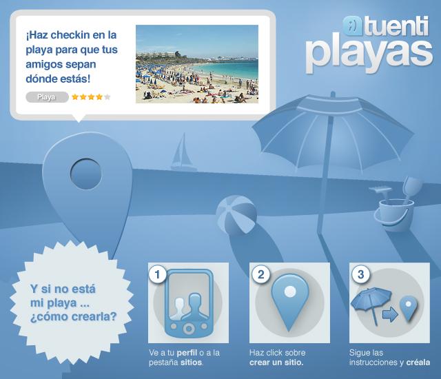 Comparte dónde estás con Tuenti Playas