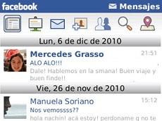 Nueva aplicación de mensajería para móviles de Facebook