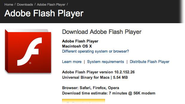 Nuevo fallo de Adobe Flash Player