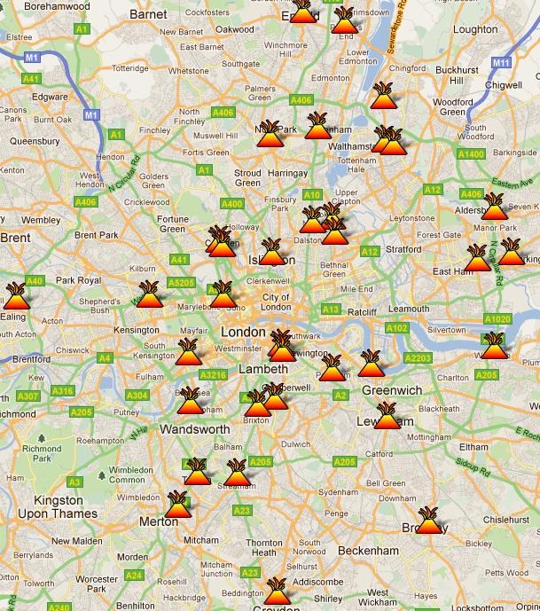 Reino Unido: ahora puedes seguir los disturbios a través de Google Maps
