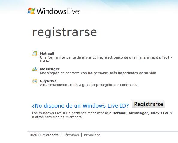 Usar MSN sin tener cuenta en Hotmail