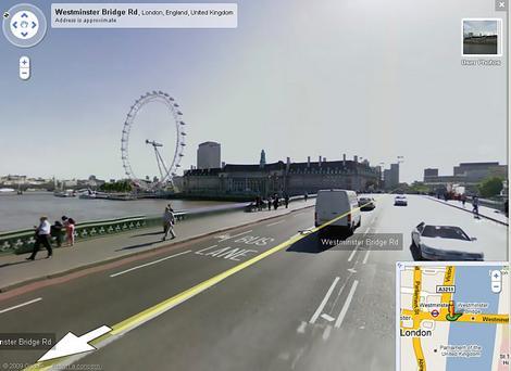 Reproducción de imágenes históricas en Google Street View