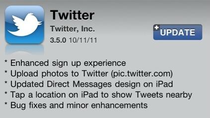 Twitter actualiza su aplicación para iOS