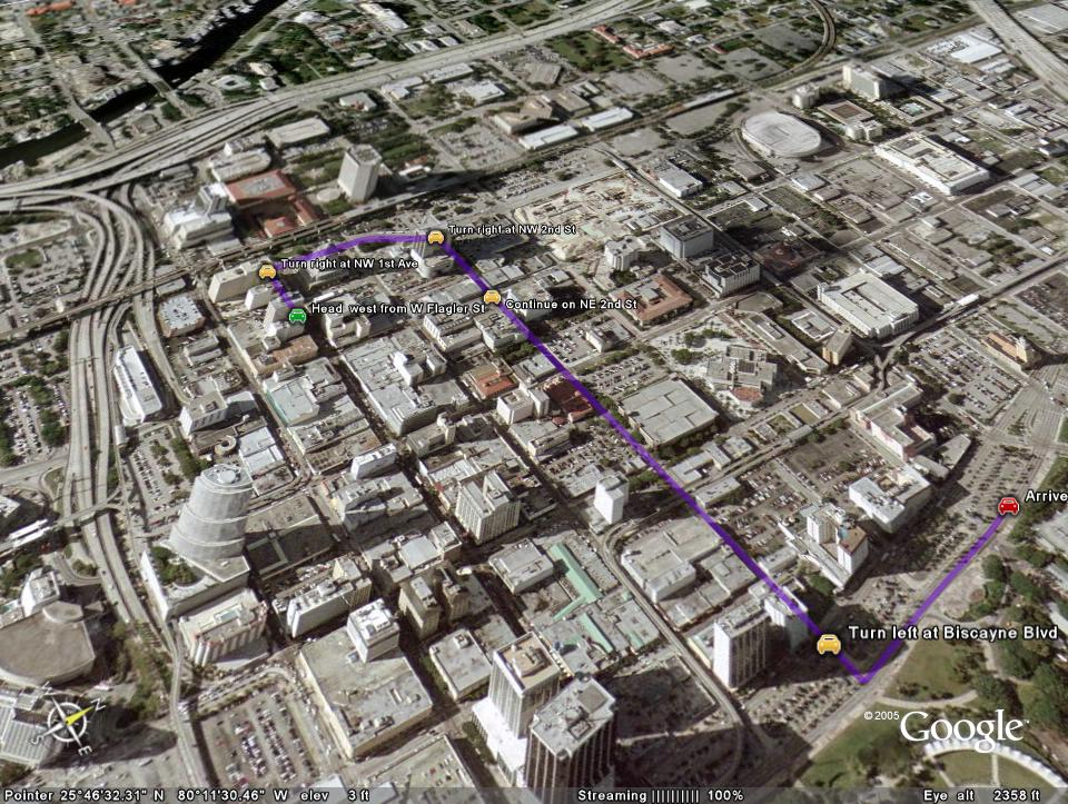 Google Maps muestra rutas en 3D