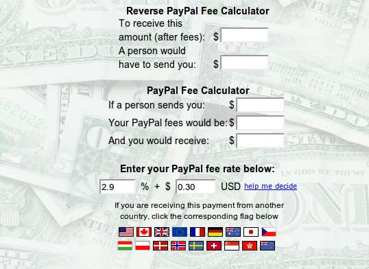 Calcular comisiones en PayPal