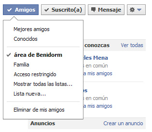 Cómo editar las listas de amigos de Facebook