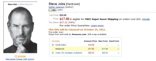 Se adelanta el lanzamiento de la biografía autorizada de Steve Jobs
