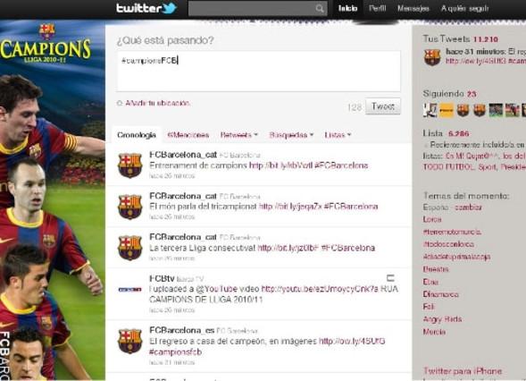 Equipos españoles con mayor presencia en Twitter