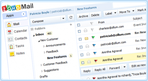 Zoho Mail se actualiza con interesantes mejoras