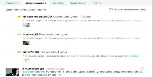 Twitter unifica las pestañas de menciones y retweets
