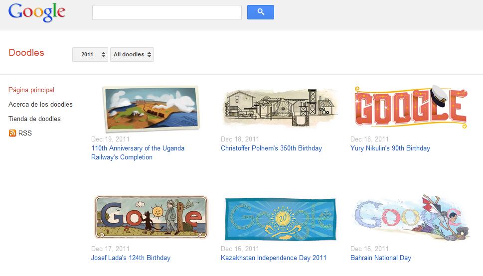 Los mejores doodles de Google durante todo 2011