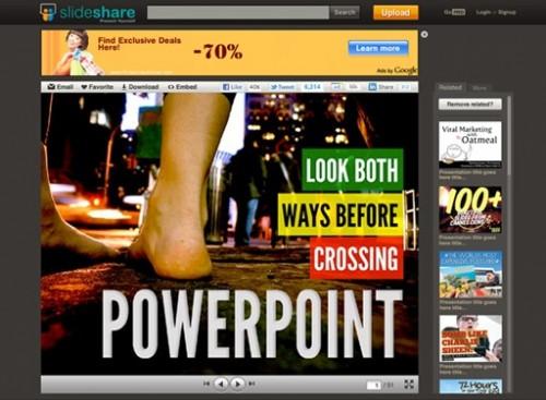 BigFoot, nuevo diseño para la página de presentación de SlideShare