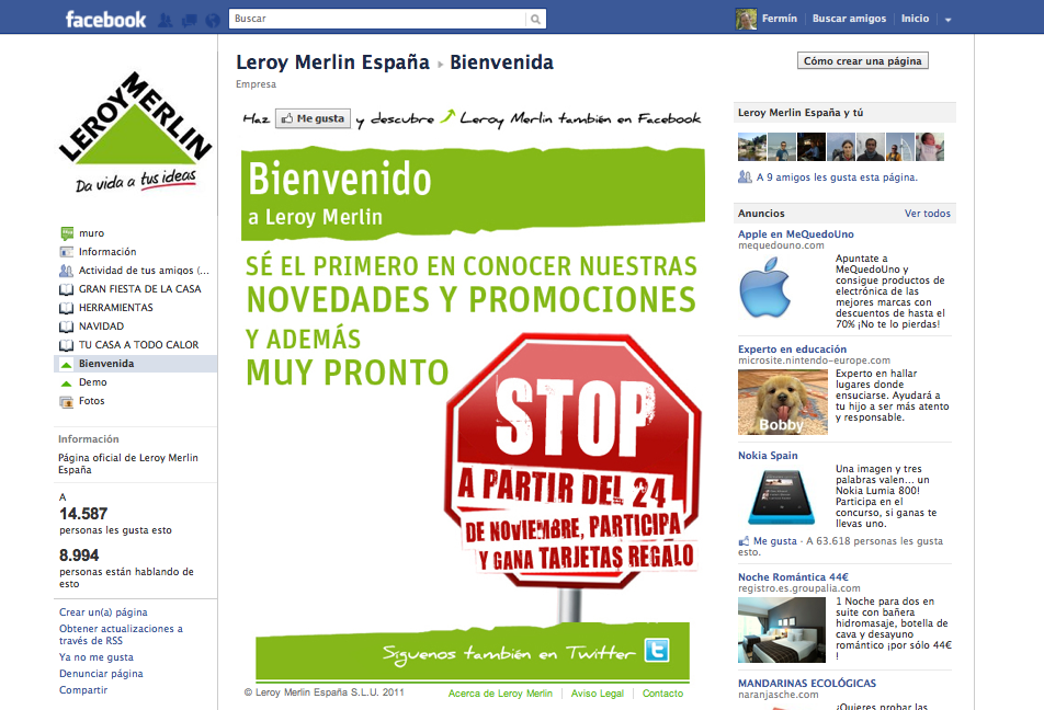 Leroy merlin arrasa en facebook gu a de internet for Leroy merlin facebook