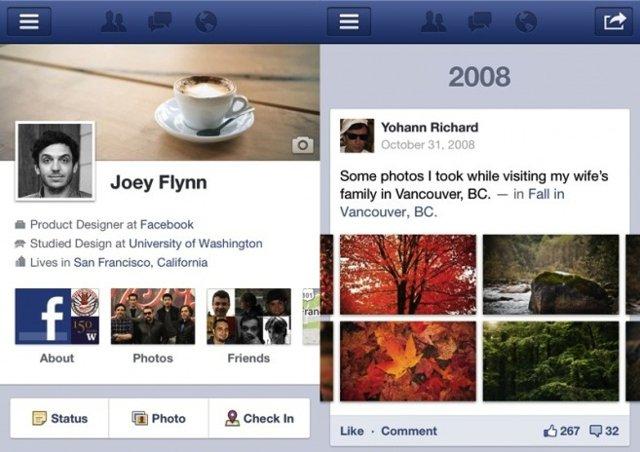 El Timeline de Facebook, a punto de llegar al iPad