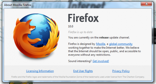Firefox 10, disponible para la descarga