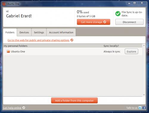 Ubuntu One, alternativa a Dropbox con 5 GB de espacio en la nube