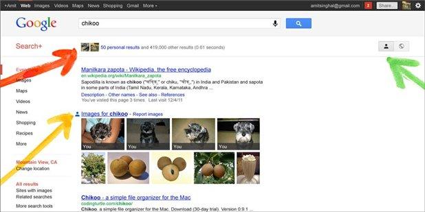 Los contenidos de Google + se indexarán en Google