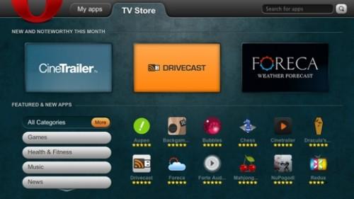 Opera presentó su tienda de aplicaciones para televisores