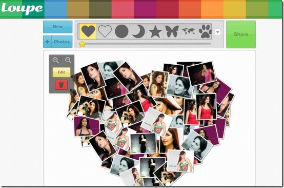 loupe crea un collage con tus fotos de facebook gu a de internet. Black Bedroom Furniture Sets. Home Design Ideas