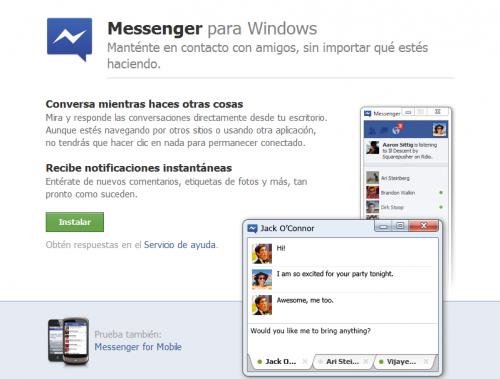 Facebook Messenger para Windows, presentado oficialmente