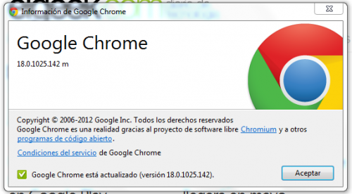 Google lanzó Chrome 18