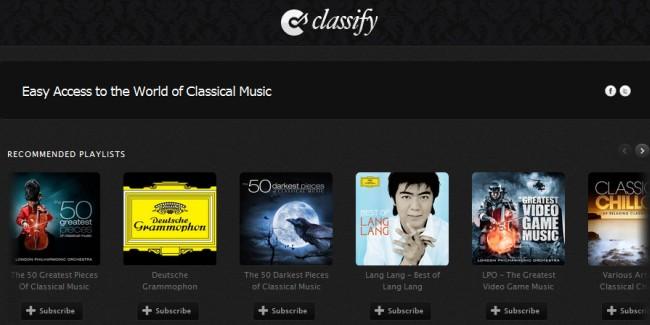 Classify, Spotify para amantes de la música clásica